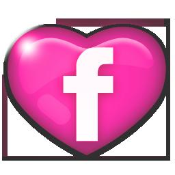 Facebook Heart Pink